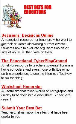 USA TODAY EDUCATIONAL CYBERPLAYGROUND BEST BET